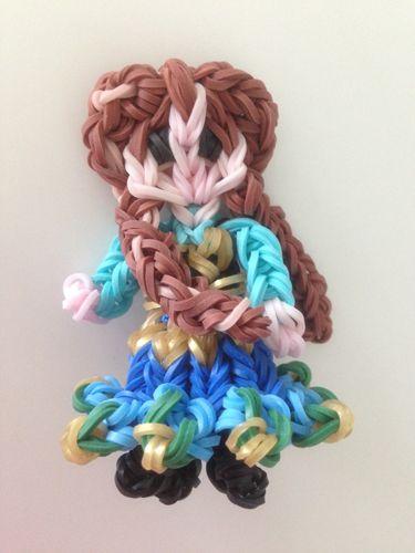 Rainbow loom Disney Princess Anna
