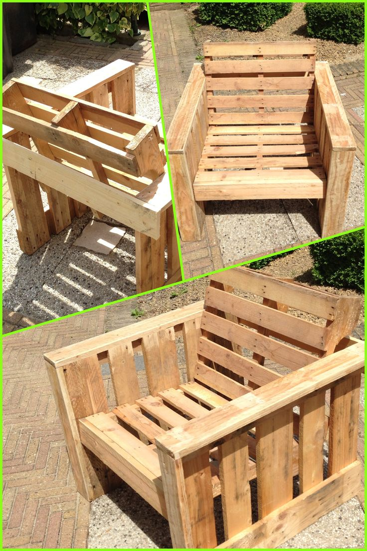 Self Made Chair Made Completely From Old Pallets Recycle