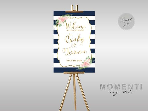 Printable Wedding Welcome sign Welcome sign by MomentiDesignStudio