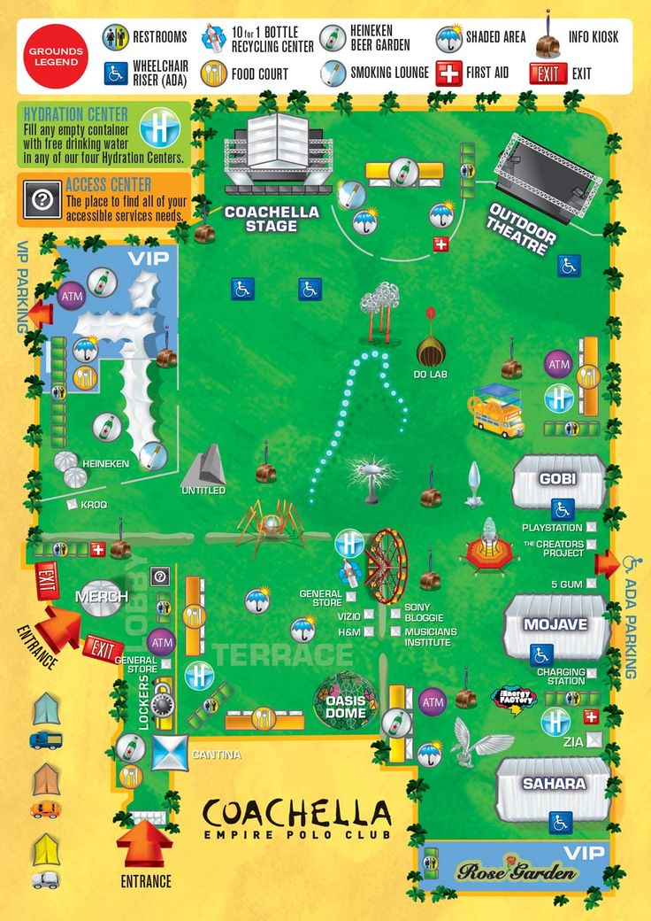 Coachella layout | Festival design in 2019 | Coachella ...