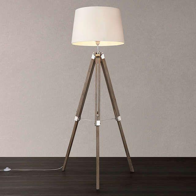 John Lewis Amp Partners Jacques Tripod Floor Lamp Grey