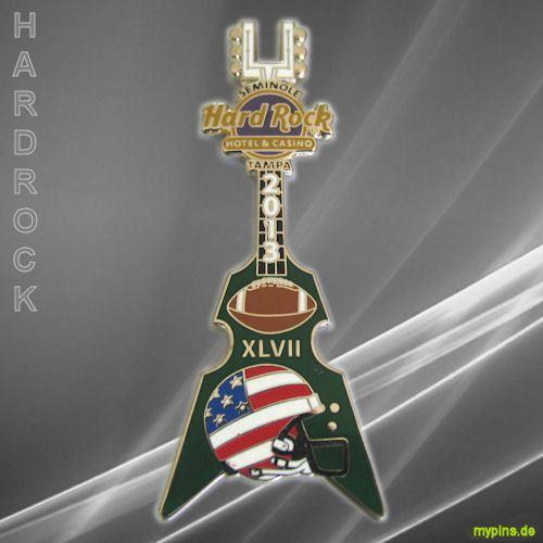 0036 - HRC Tampa Seminole, Florida, USA. Superbowl 2013, Helmet Guitar Series. Baltimore Ravens (AFC) - San Francisco 49ers (NFC): 34 : 31 — at Seminole Hard Rock Hotel & Casino, Tampa.