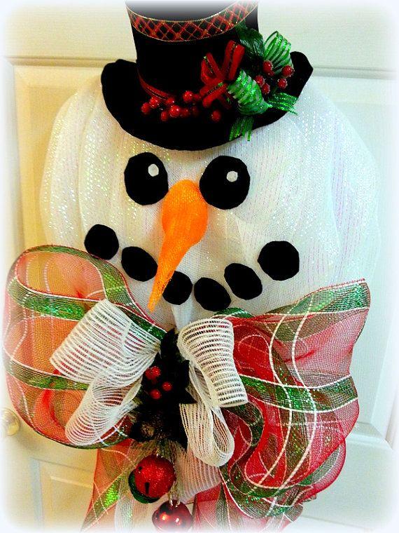 42 best DIY Snowman Mesh images on Pinterest   Snowman ...