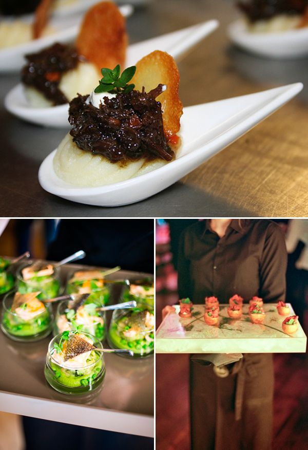 Creative canapes wedding catering ideas reinvention of for Canape catering