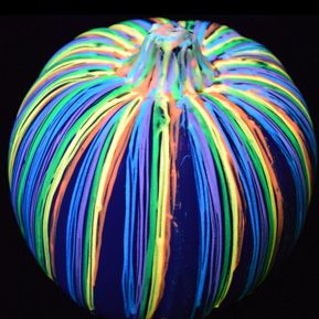 17 best images about ultra violet blacklight halloween on for Glow in the dark paint for real pumpkins