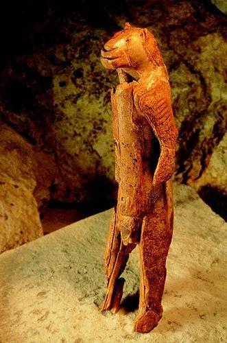 Lion-headed figure, Hohlenstein Stadel, Swabian Alps, Germany c. 32,000 BP.