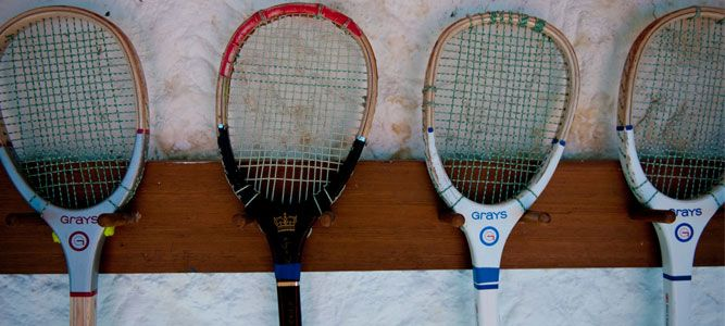 Grays real tennis racquets