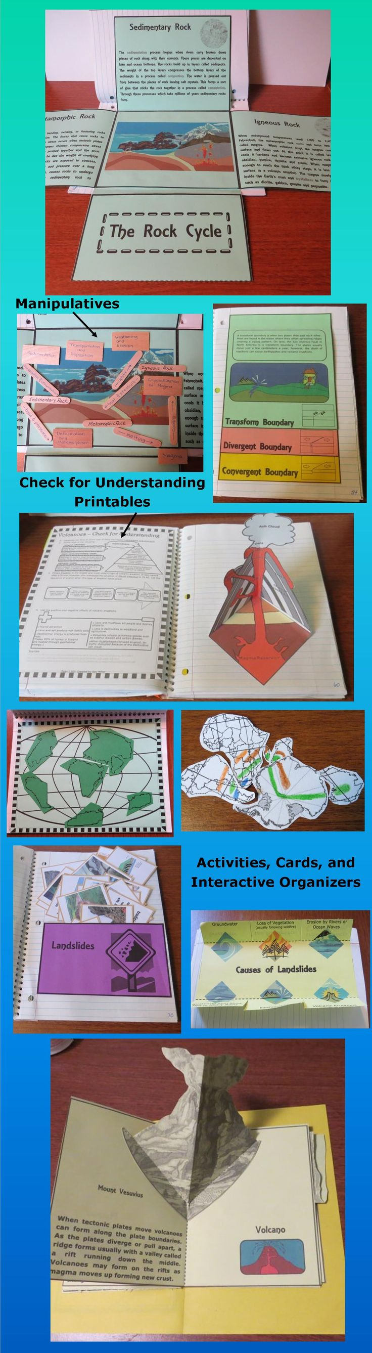 Earth's Systems Interactive Organizers contains everything you need to create interactive science notebooks for your geology unit. This 389 page resource is aligned to the Next Generation Middle School Earth and Space Science Standards, covering ESS2-1, ESS2-2, and ESS2-3. It aligns to many state science standards as well. $