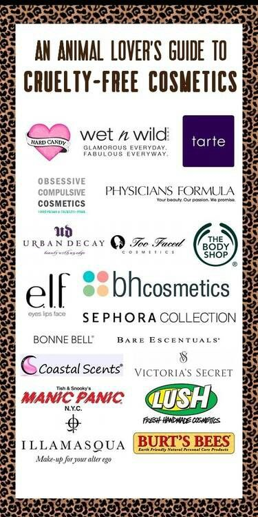 Except for The Body Shop brand which recently sold out to L'Oreal, which DOES test on animals, here's a list of cosmetic companies that don't test on animals.