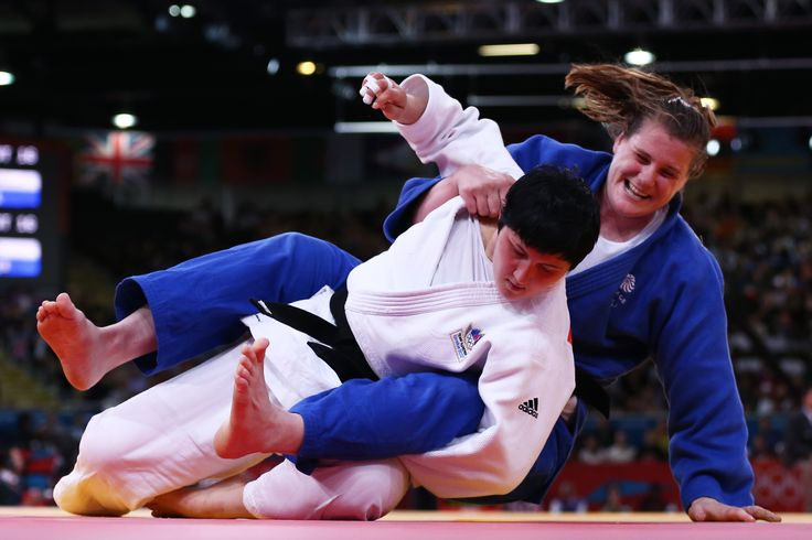 Karina Bryant winning bronze in judo at London 2012