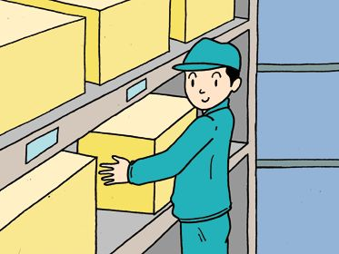 arrangement  企業・社内活動のイラスト「整理整頓・棚卸・在庫整理・整理棚・物品倉庫・識別・選別」