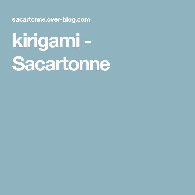 kirigami - Sacartonne