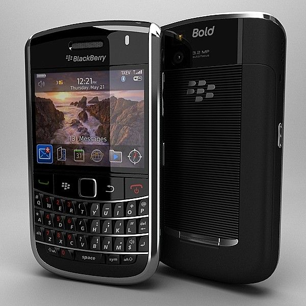 Blackberry Bold 9650 3D Model - 3D Model