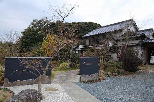 本格和風の門壁とアプローチ   施工例   浜松のエクステリア・外構なら都田建設