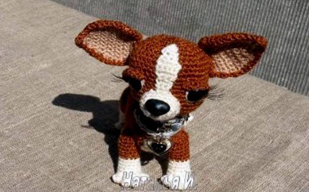 Руководство по вязанию крючком игрушки «Собака мисс Чи»