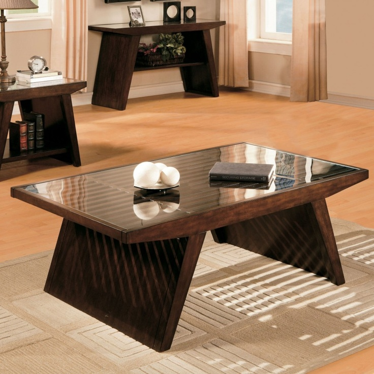 Standard Furniture Deco Cocktail Table in Deep Brown - 20881