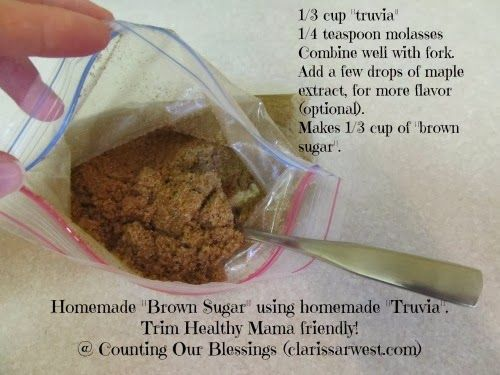 "Counting Our Blessings: Homemade ""truvia"" & ""brown sugar"" Recipes (THM)"