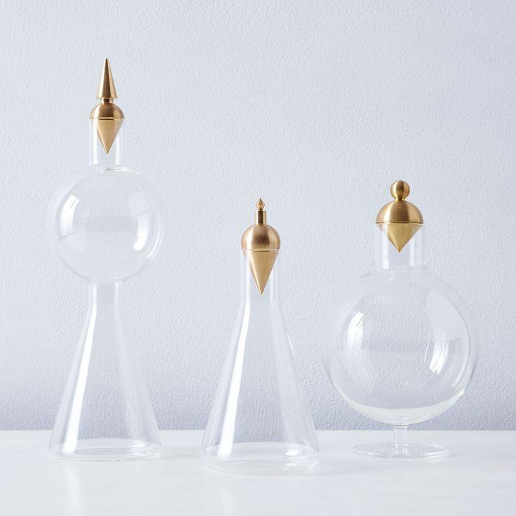 Geometric Glass & Brass Vessels on Food52