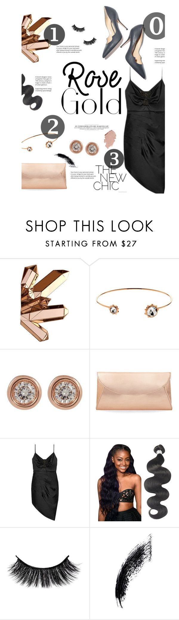 """Rose Gold"" by sierrrrrra ❤ liked on Polyvore featuring Paul Andrew, Cachet, Ron Hami, Steve Madden, Gucci and rosegold"