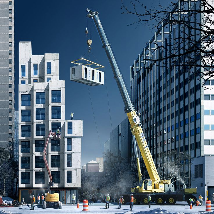 Next in our round-up is this modular residential tower, which offers a solution to New York's affordable housing shortage.