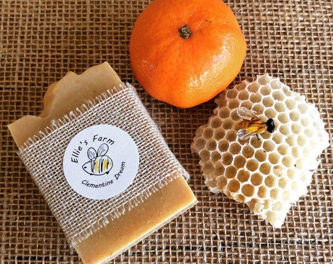 Clementine Dream Soap, Handmade Soap, UK, Soap, Natural Soap, Gentle Soap, Gift Soap, Luxury Soap, Soaps, Artisan Soap, Homemade Soap