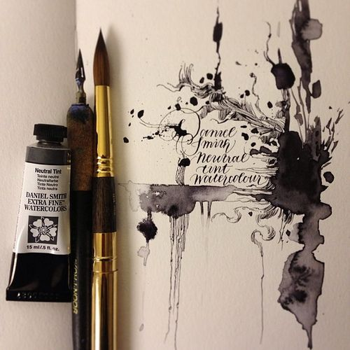 Daniel Smith's beautiful new Neutral Tint watercolour.