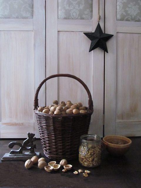 PASTU domov: Podzimní úroda v proutěném košíku