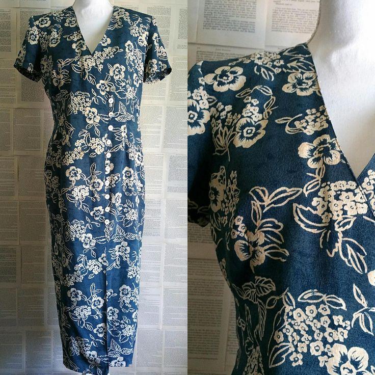 Vintage 80s-90s Floral Dress - Size 14 by MyVintageSundays on Etsy