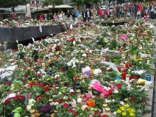 Bergen- Memorial: Utøya, Oslo, Norway  22. Juli 2011