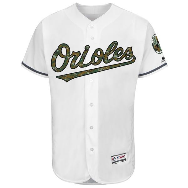 d015d4afe ... Baltimore Orioles Majestic Fashion 2016 Memorial Day Flex Base Team  Jersey - White - 195.99 ...