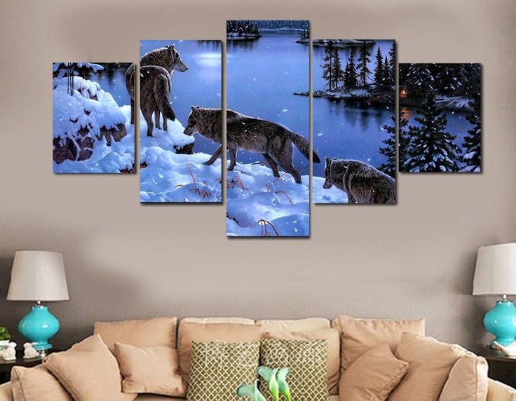 Wolf Pack 5 Piece Canvas Print – TC Discount Store