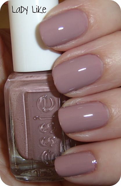 Essie Ladylike -- current nail polish -- a soft pink/lavender.  Nice neutral.