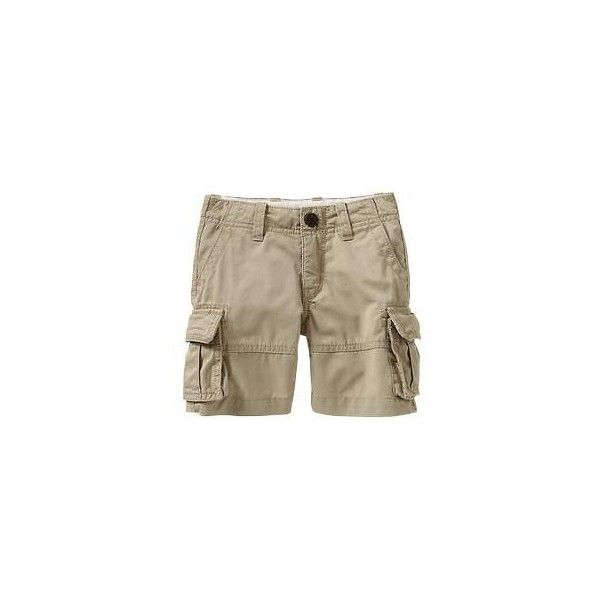 Gap Twill Cargo Shorts - rattan ($9.99) ❤ liked on Polyvore featuring shorts, toddler boy and toddler boy shorts