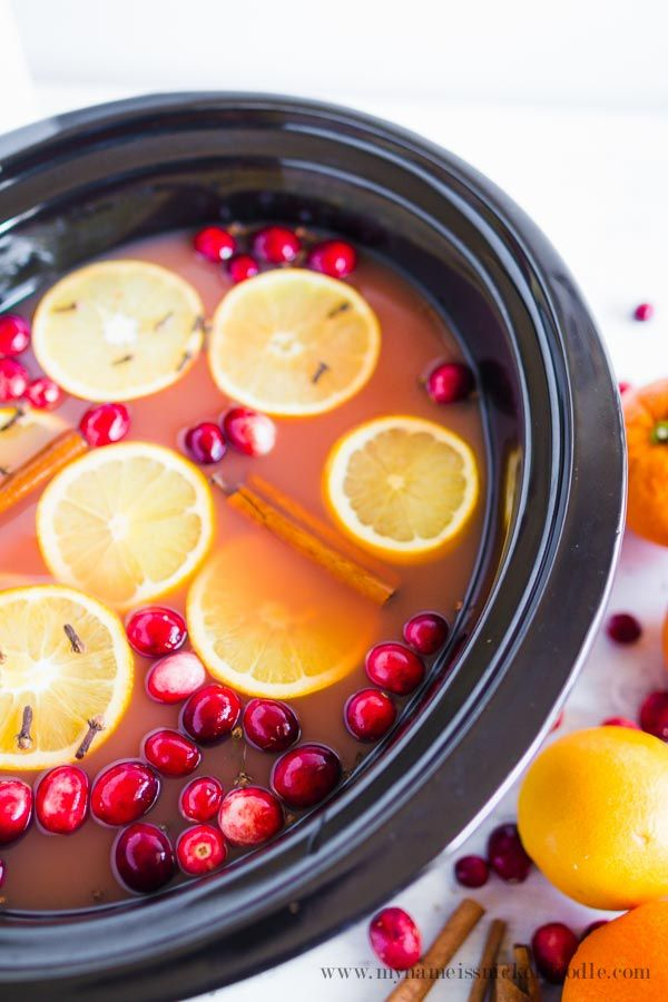 Slow Cooker Holiday Wassail Recipe - perfect for winter and Christmas parties!