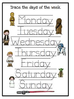 Star Wars Printables Educational and Other Activities. SunshineandHurricanes.com