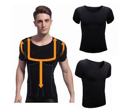 Men's Slim Short-Sleeved Look slim wearing the Men's #Slim Body Shaper Shapewear Taping Inner #T-Shirt only $8.19 buy it at http://goo.gl/4ivFHO (scheduled via http://www.tailwindapp.com?utm_source=pinterest&utm_medium=twpin&utm_content=post16957582&utm_campaign=scheduler_attribution)