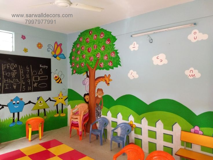 School Class Room Wall Paintings Room Wall Painting