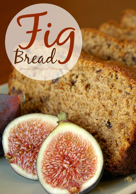 Wondering what to do with all those FIGS?! Fresh fig bread, of course. Healthy and delicious recipe! Thanks to Cutting Tiny Bites
