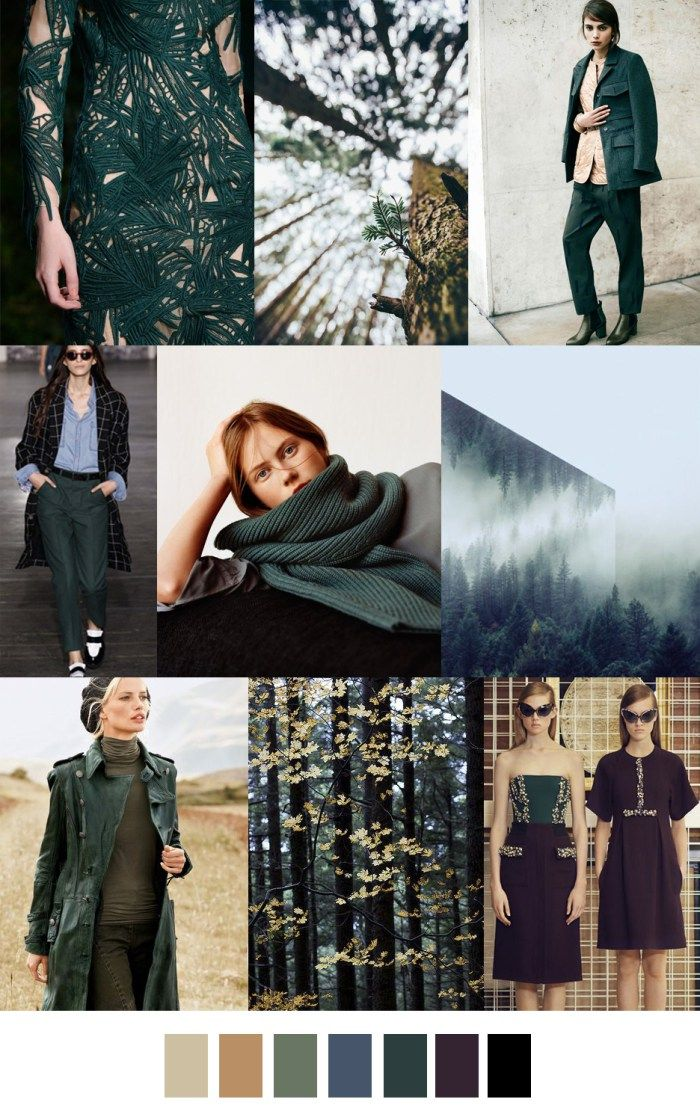 F/W 2017-2018 pattern & colors trends: EVERGREEN