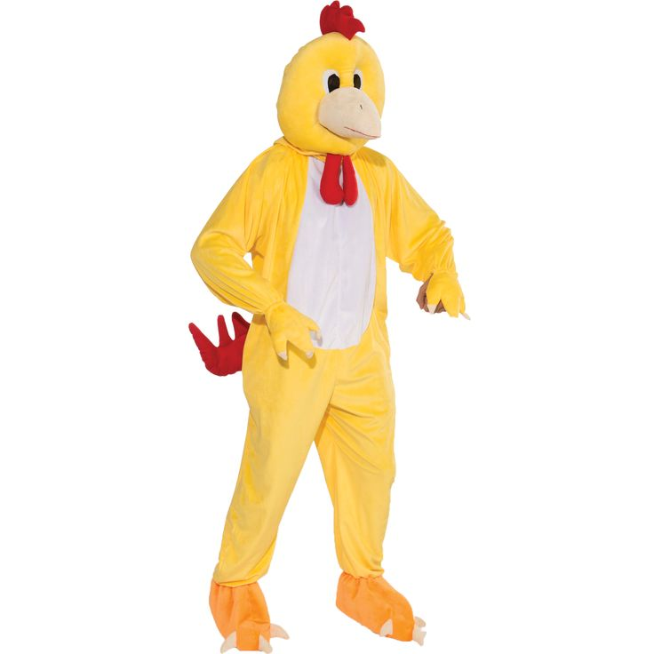 Men's Chicken Mascot Costume Size: One Size Fits Most