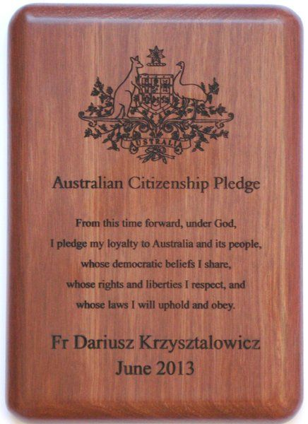 #Jarrah #wall #Plaques engraved with your individualised text $24.20 www.ozwood.com.au