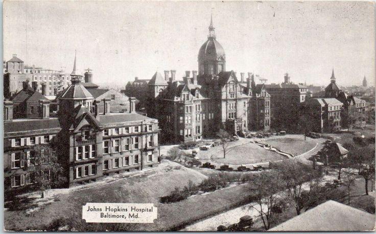 Early 1900s Johns Hopkins Hospital, Baltimore, MD postcard