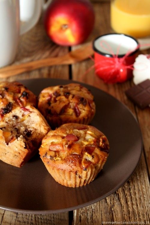 Muffin vegan alla pesca    #vegan #vegetarian