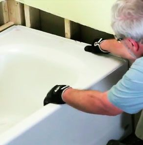 In most cases, removing an old bathtub is a project homeowners who are handy with a few common tools can do themselves. Take a look at Removing and Replacing a Bathtub at HomeDepot.com to see how to take on this project.