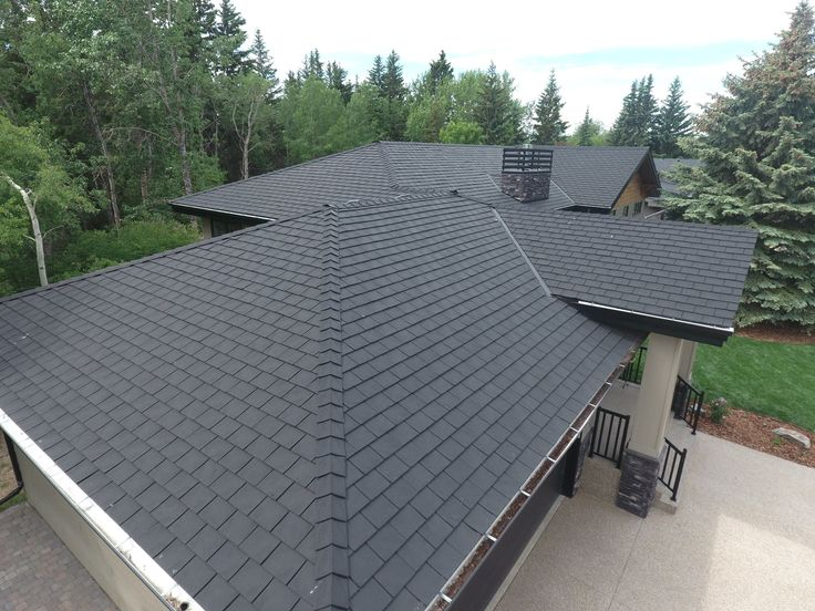 Heritage Slate in Black #Slate #Black  #roof #authenticlook #rubber #roofingmaterial #lifetimewarranty #contractor #shingles #renos #home #design #durable #affordable #premiumroofing