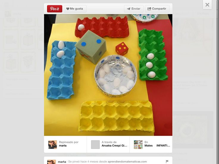 Counting Game using painted egg cartons and dice