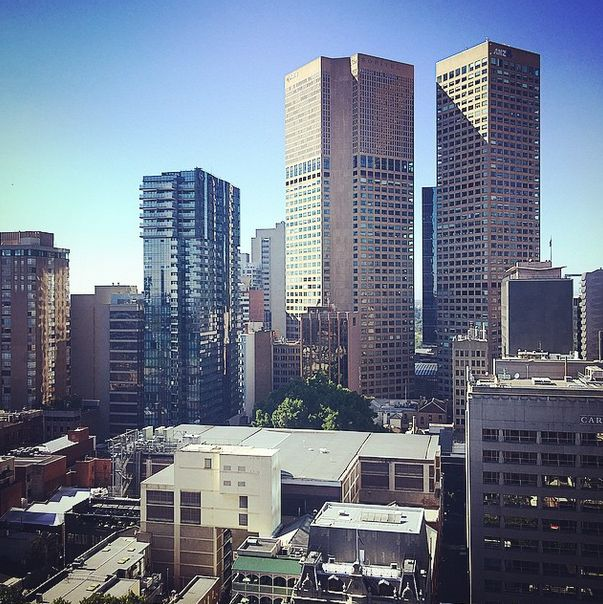 Good morning Melbourne! The view from a room at Rydges #Melbourne. Photo via Instagramer: monker_stash.