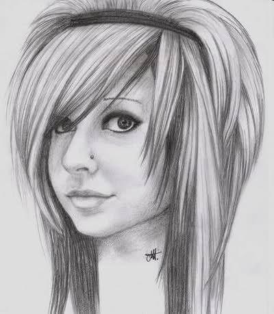 dziewczyna rysunek | Rysunki-Dziewczyny | ...:::Galeria zdjęć emo:::...