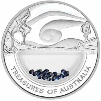 NOT FOR SALE4  -2007  TREASURES  SAPPHIRE LOCKET SILVER COIN  treasures of australia coin , perth mint coin, silver bullion , australian coin ,silver coins, one ounce silver,silver , sapphirel coin
