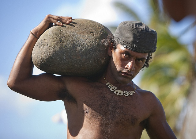 Stone Compettion At Anakena Beach During Tapati Festival, Easter Island, Chile by Eric Lafforgue, via Flickr